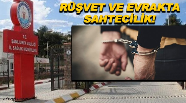 Şanlıurfada İl Sağlık Müdürlüğü personeli tutuklandı!