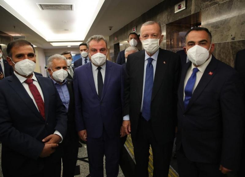 Şanlıurfaspor yönetiminden Cumhurbaşkanı Erdoğan'a ziyaret
