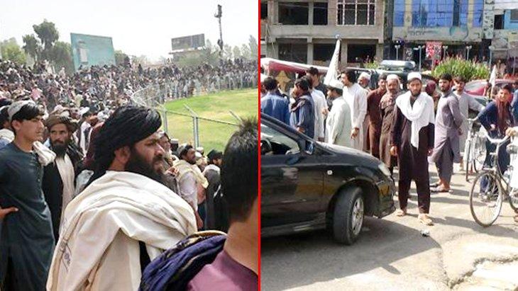 Taliban, dört komutanı binlerce kişinin önünde asarak idam etti